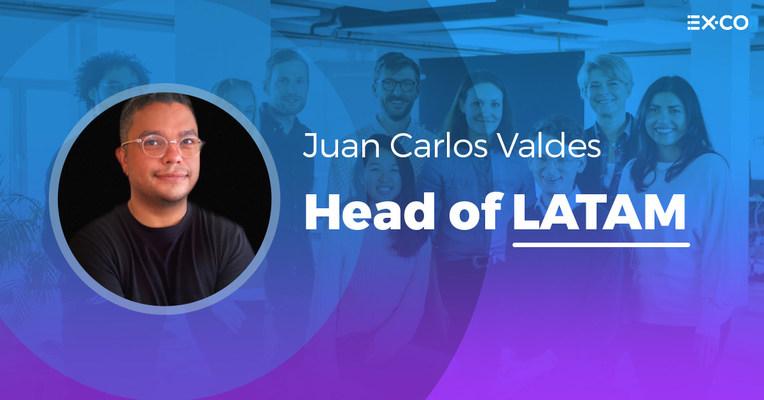 Juan Carlos Valdés, Head of LATAM at EX.CO (PRNewsfoto/EX.CO)